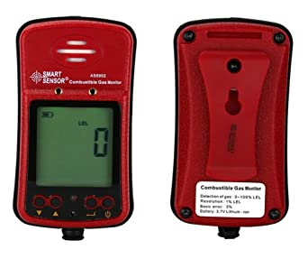 Handheld Combustible Gas Detector Portable Flammable Gas Leak Analyzer LCD Display Sound Light Alarm Range 0