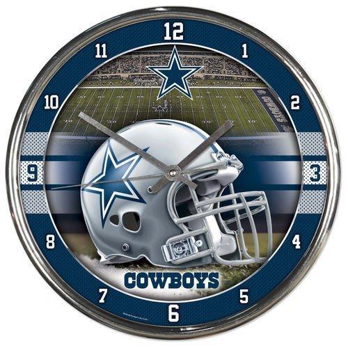 Wincraft NFL Dallas Cowboys Chrome Clock
