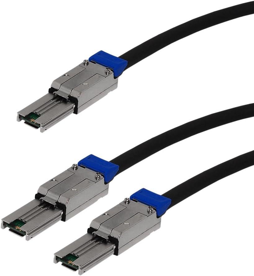 1M ext 6G Cable 30AWG SFF-8088 SFF-8088 to 2X ext Mini-SAS Mini-SAS