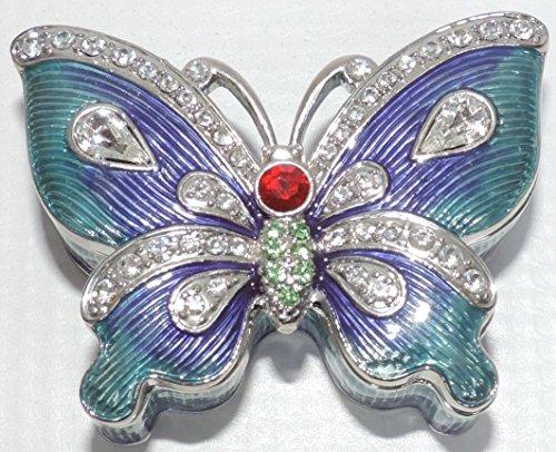 Butterfly Trinket Box (Purple/Teal)