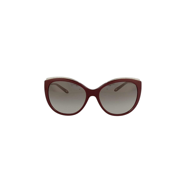 bef7ab817da4 Amazon.com  Tiffany TF4134B 81813C Dark Cherry TF4134B Cats Eyes Sunglasses  Lens Category 2  Clothing
