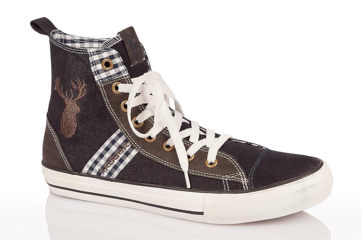 Trachten Herren Sneaker James Marine: : Schuhe