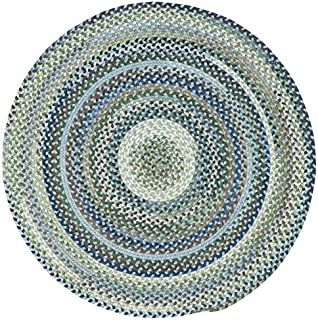 "product image for Capel Manchester Light Blue 0' 15"" Round Braided Rug"
