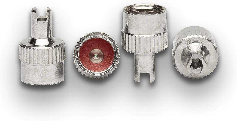 kmx24 Ventilkappe Metall mit Ausdreher masiv 2 Stück im Set silber