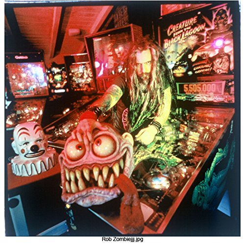 """Rob Zombie 8 Inch x 10 Inch Photo Muscian Soundtrack for The Matrix The Matrix Reloaded Daredevil Leaning Across """"Creature from the Black Lagoon"""" Pinball Machine kn"""