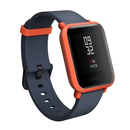 Amazfit BIP smartwatch by Huami with All-Day Heart Rate & Activity Tracking, Sleep Monitoring, GPS, 30-Day Battery Life, Bluetooth (Cinnabar Red), One ...
