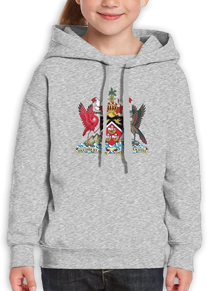 DTMN7 Coat Of Arms Of Trinidad and Tobago Athletic Printed 100/% Cotton Blouses For Youth Spring Autumn Winter