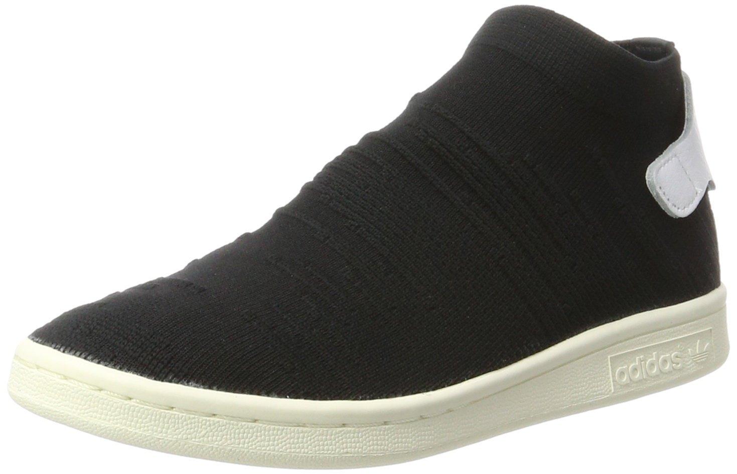 adidas Damen Stan Smith Sock Primeknit Sneaker  40 2/3 EU|Schwarz (Core Black/Core Black/Footwear White)