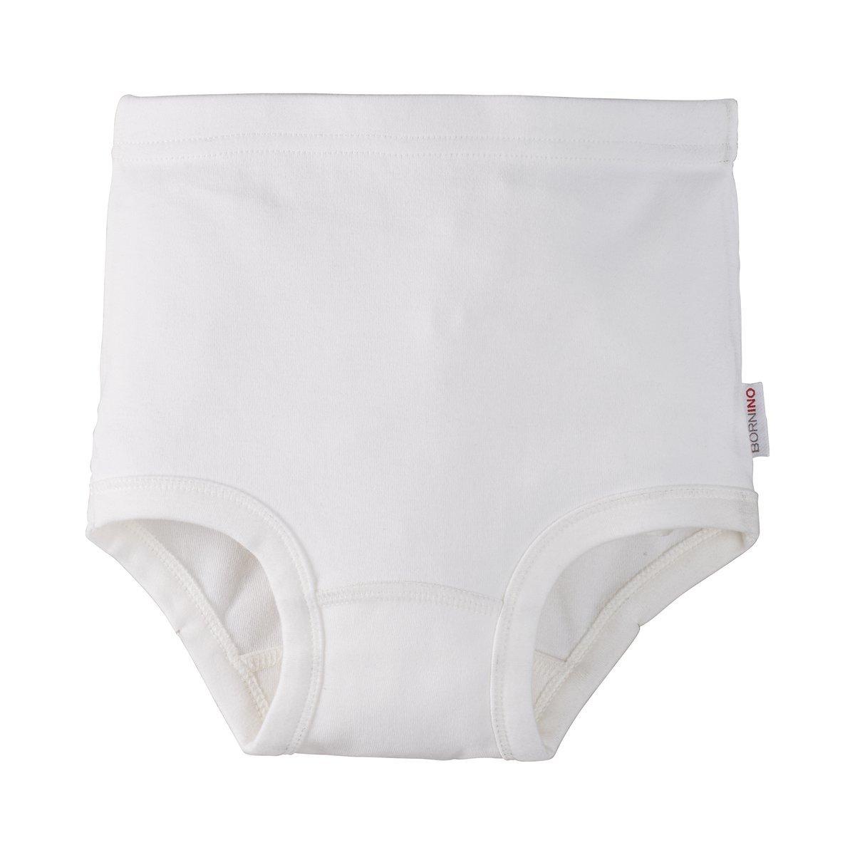 Bornino GOTS Slip/Windelslip / Unterwäsche/Unterhose - Farbe: weiß Weiss, mit Gummibund, Baumwolle, GOTS Zertifiziert