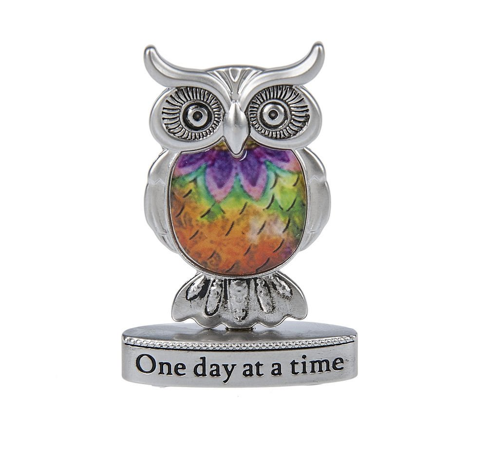 Ganz Home Decor Love, Luck & Happiness 1.5 in Blessings Figurines Owl-ER48182