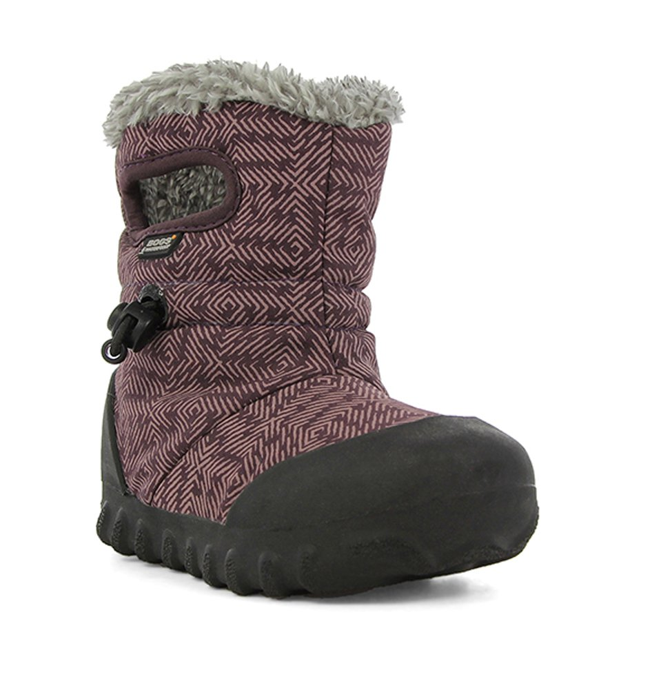 Bogs Baby B-Moc Waterproof Insulated Kids/Toddler Winter Boot, Plum Print/Blue/Multi, 2 M US Little