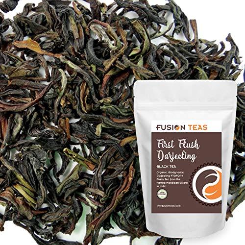 Organic Darjeeling Black Tea First Flush - Premium Loose Leaf Indian Tea from Makaibari Estate - Gourmet Hot or Iced - 1 Pound (16 oz) Pouch