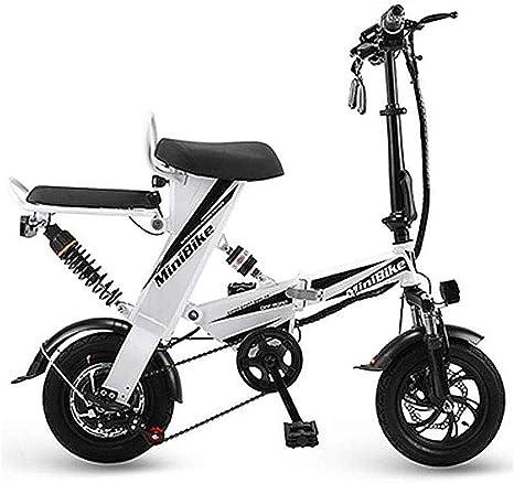 Bicicleta Plegable Eléctrica, Adulto Mini Eléctrica Plegable Bici ...