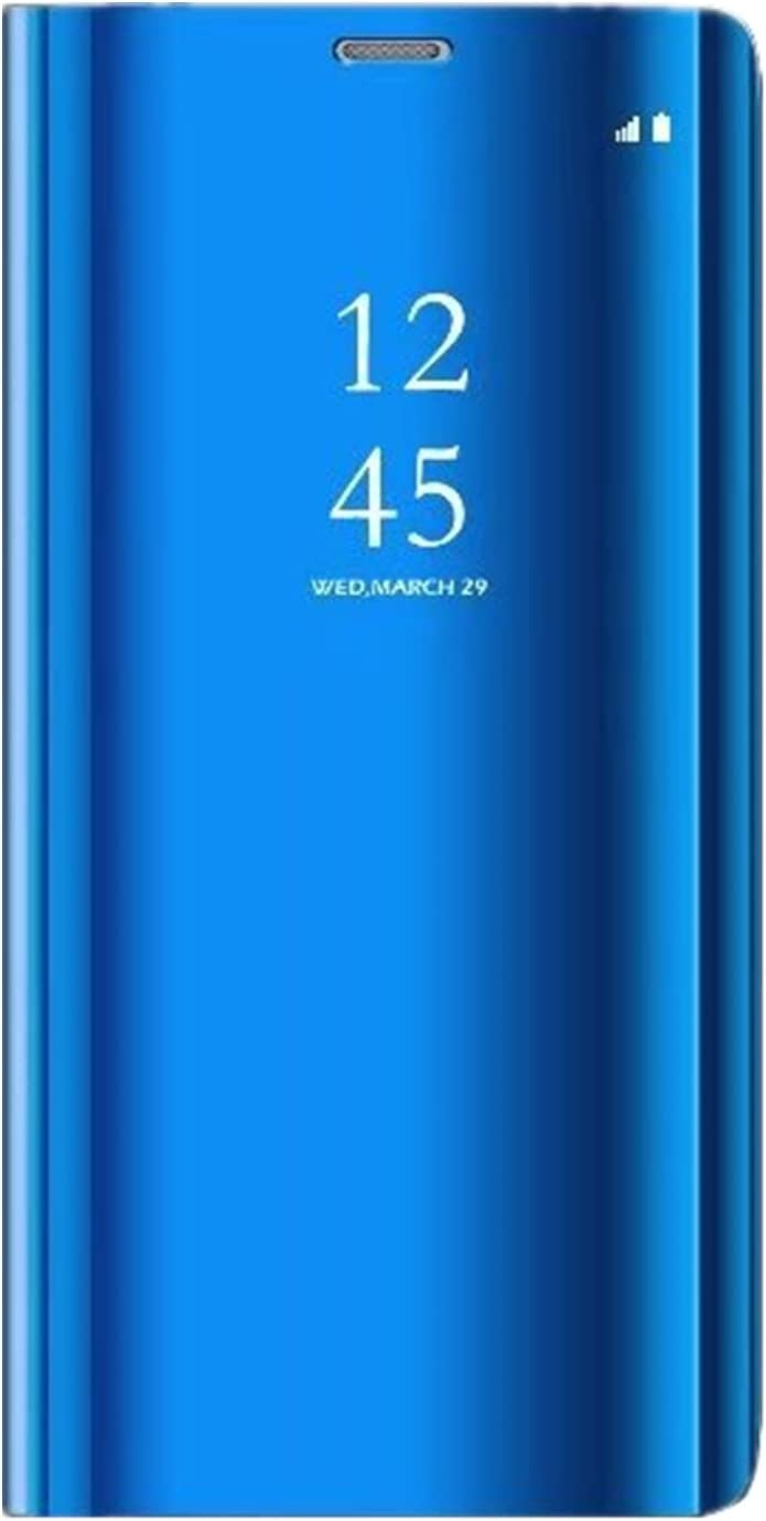 Clear View Flip Case for Samsung Galaxy S9//S9 Plus Transparent Anti-Fingerprint Cover with Stand Function