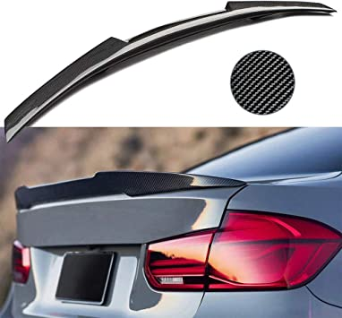 FOR BMW 3 SERIES F30 PERFORMANCE V STYLE REAR BOOT SPOILER ABS BLACK 2012-2017