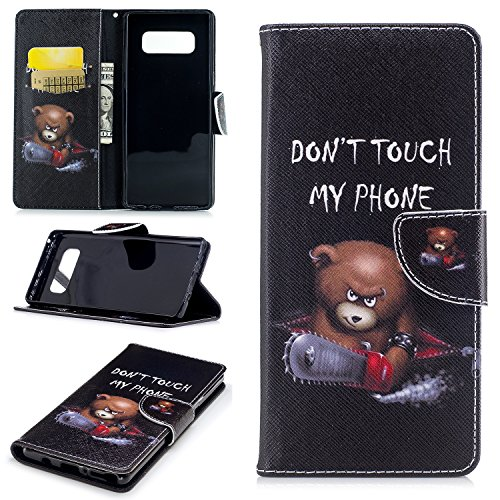 Galaxy Note 8 Wallet Case, Easytop PU Leather Magnetic Flip