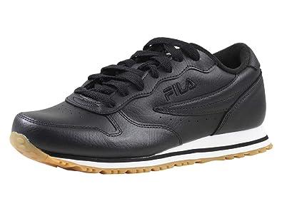 93957f4b825b Fila Men s Euro-Jogger-II Black White Gum Sneakers Shoes Sz