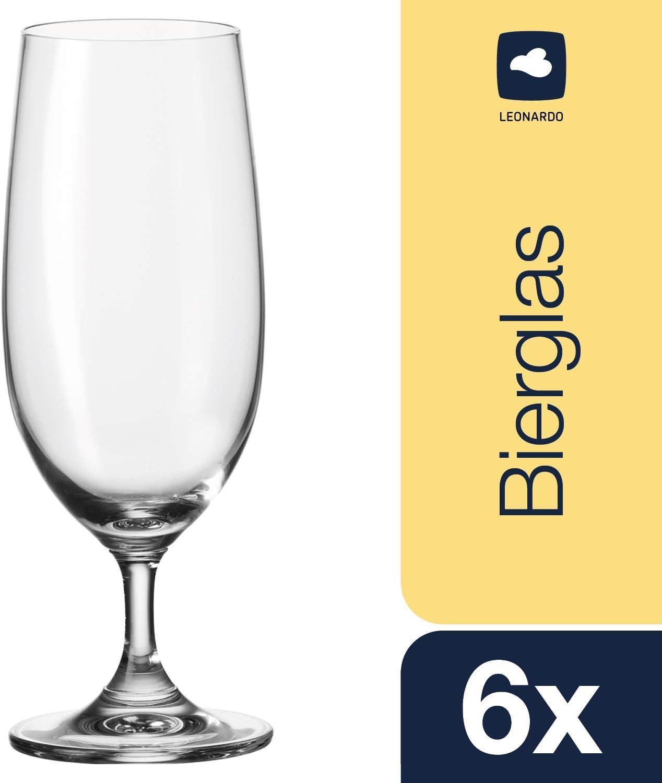 Leonardo 35239 Daily - Copas de Cerveza (6 Unidades)