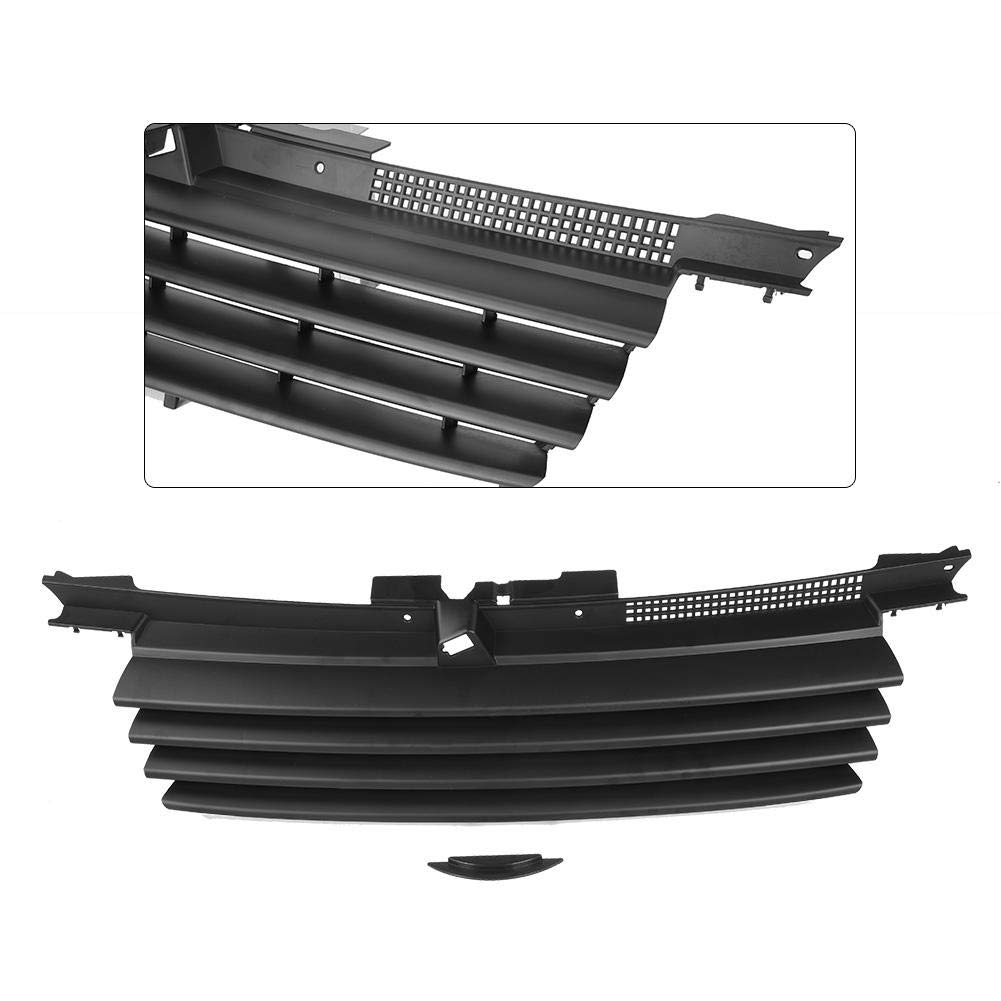 Qii lu High Quality Hood Grill Car Front Black Badgeless Hood Grill Notch Filler for VW Bora Jetta MK4 1999-2005