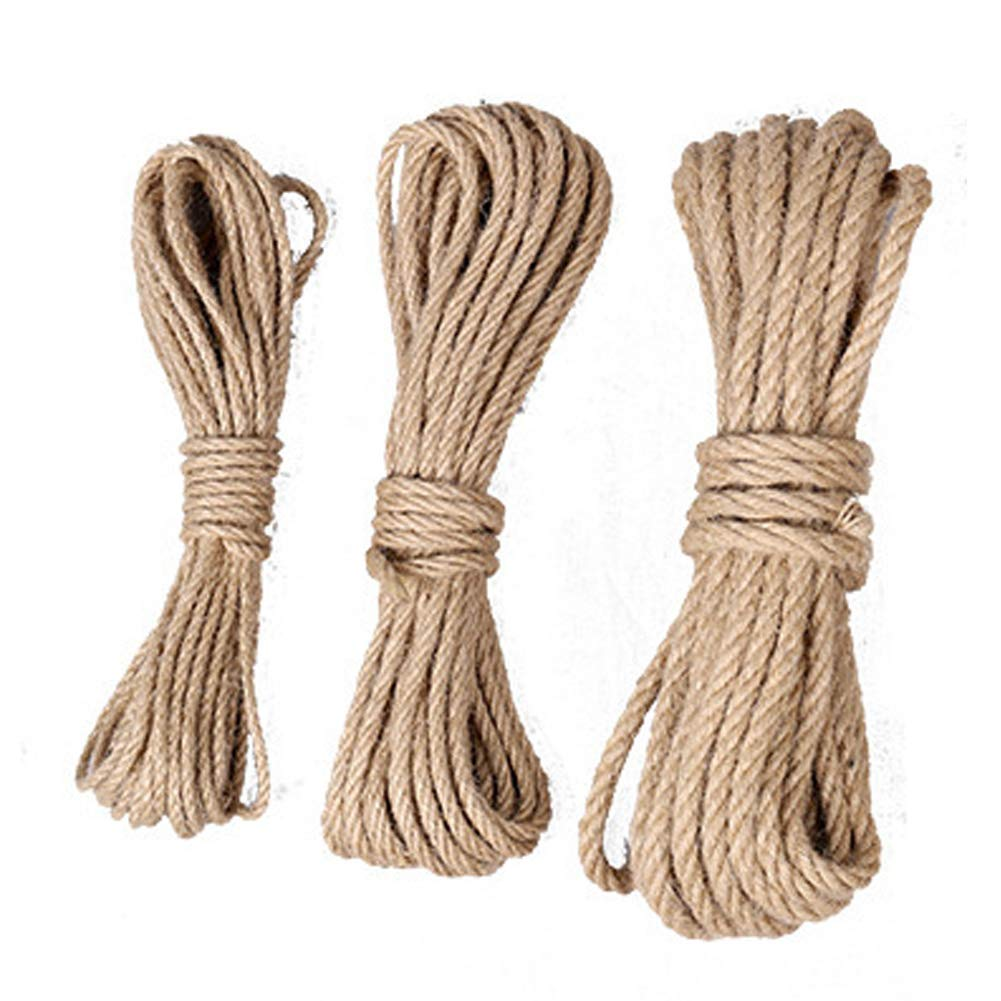 10mm Rope Jute DIY Decorations Natural Craft Durable Hangers Hemp Natural Gift Wrapping