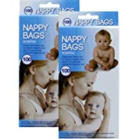 2 x 100 Nappy Changing Bags Scented and Comes in Convenient Dispenser Box