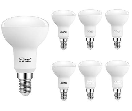 Bombillas LED reflectoras R50 E14, 7 W, luz blanca cálida, de Tech Traders