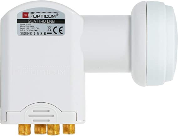 Opticum Quattro LNB - LRP-04H - contactos chapados (Full HD, 3D) (Importado)