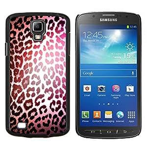 LECELL--Funda protectora / Cubierta / Piel For Samsung Galaxy S4 Active i9295 -- leopardo patrón de luz reflectante de piel --