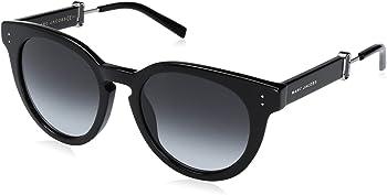 Marc Jacobs Dark Grey Gradient Round Unisex Sunglasses