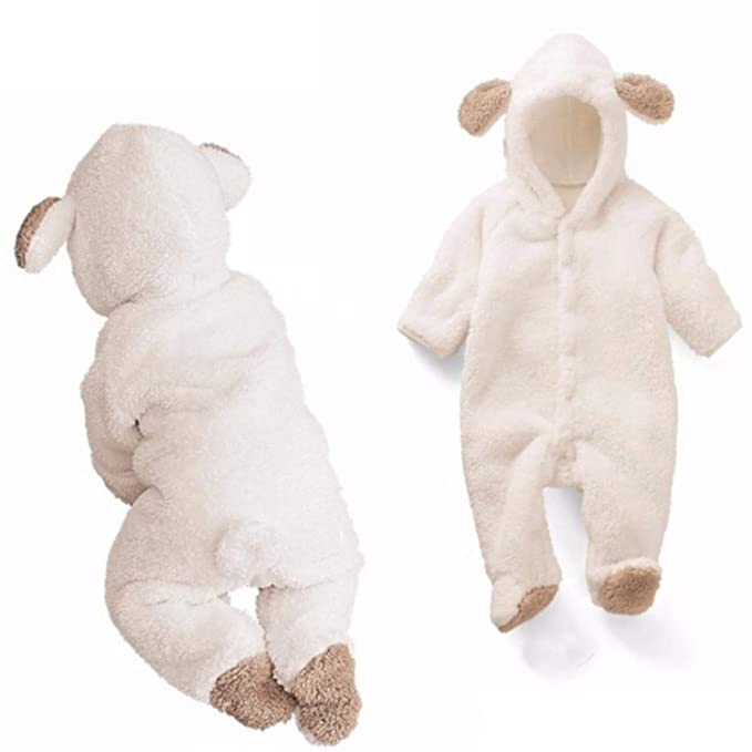 Amazon.com: Chitop Newborn Baby Romper Winter Costume Baby Boys ...