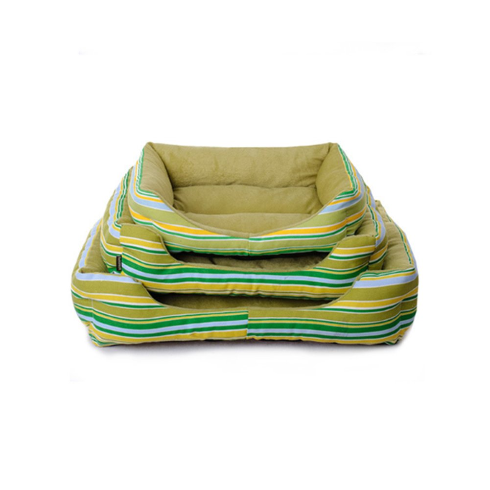 Wukong Rainbow Striped Square Pet Nest Kennel Cat Nest Small Dog Bed Nest