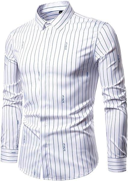 SXZG Camisa de Manga Larga para Hombre Nueva Camisa Elástica ...