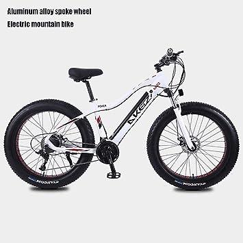 QZ Adulto Fat Tire Bicicleta eléctrica Montaña, 27 de Velocidad ...