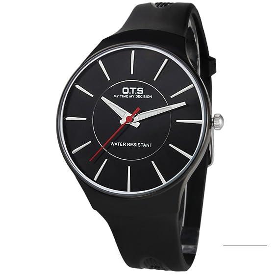 Hombres de relojes/adolescentes, reloj de cuarzo para los estudiantes varones/[impermeable], Fluorescente, Simple watch-b: Amazon.es: Relojes