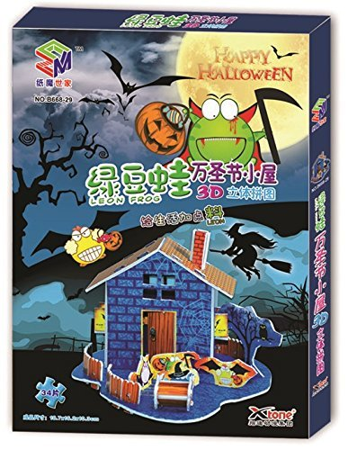 Mung Beans Frog Halloween 3D Puzzle, 34 Pieces (Interesting Facts About Halloween For Kids)