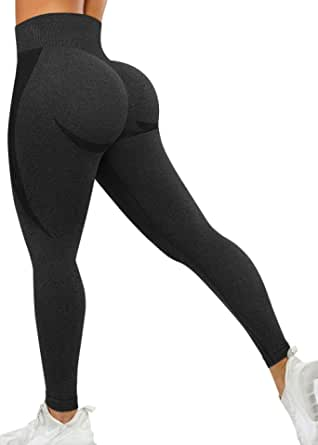 A AGROSTE Women's Butt Lifting Anti Cellulite Sexy Leggings High Waisted Yoga Pants Workout Tummy Control Textured Booty Tights