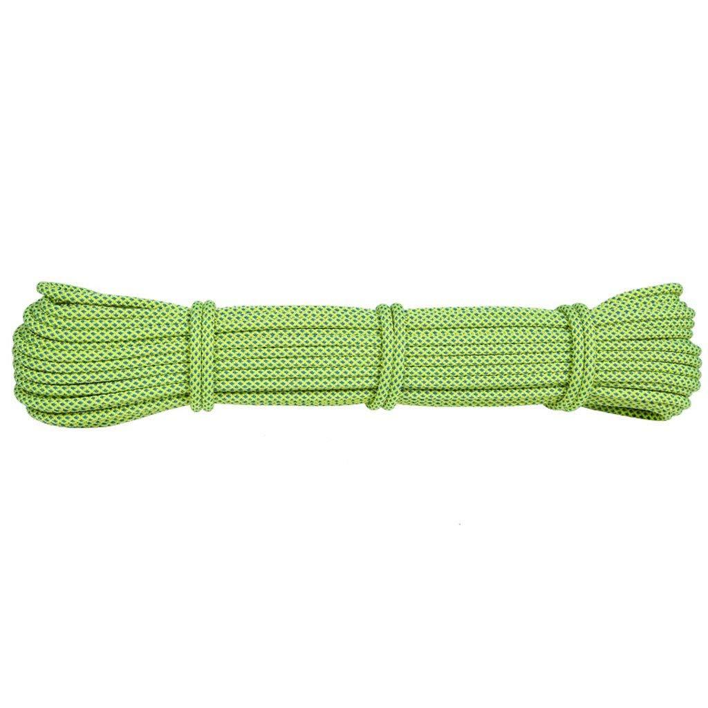 Fluorescent vert DLYDSS Corde De Sécurité, Corde D'Alpinisme, Fournitures D'équipement De Plein Air, Corde De Rechange, 6 Mm, 1 Mètre, 1 Pièce, Corde De Secours en Parachute, Corde Emballée 90M