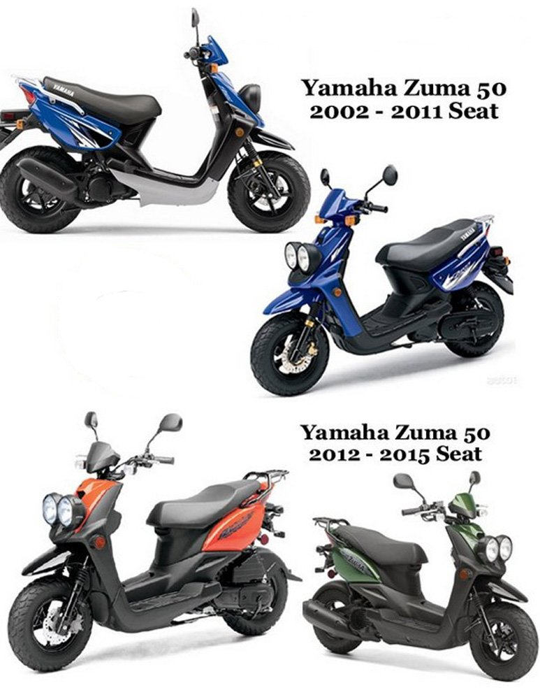 Yamaha Zuma 50 Seat Cover Cheeky Seats (2002-2011) No Staples Needed!