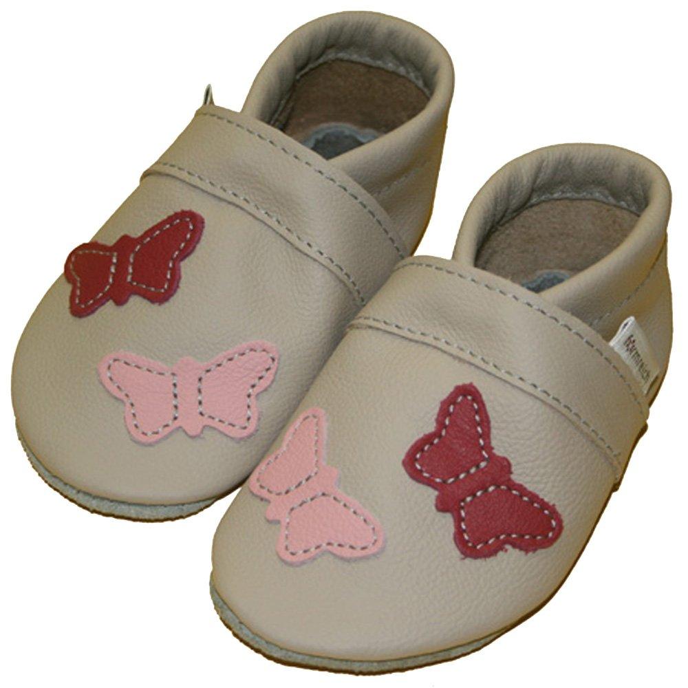 Formreich Girl Shoes Baby Shoes Papillon Ecru Enfant Jardin Chaussures Cuir Puschen 713-G-13
