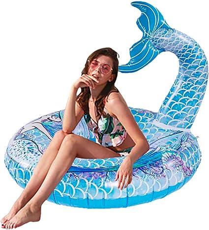 Amazon.com: Happytime - Flotador gigante de cola de sirena ...
