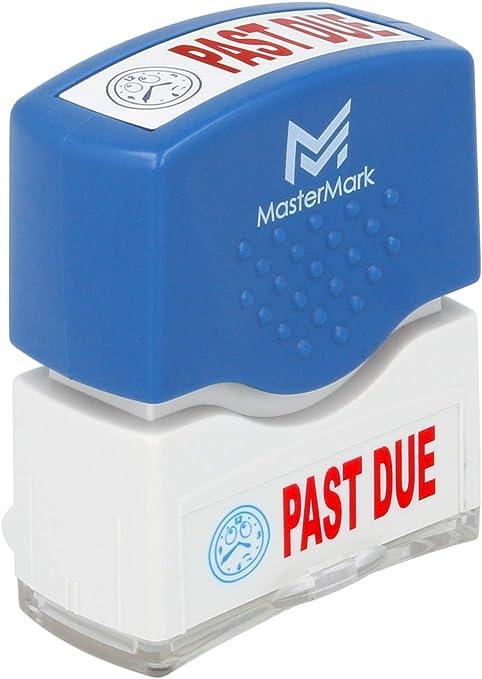 Entered Stamp MasterMark Premium 2-Color Pre-Inked Office Stamp
