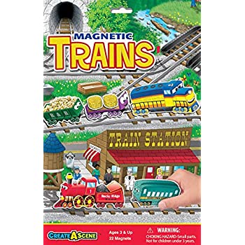 Amazon Com Create A Scene Magnetic Playset Trains Toys Games