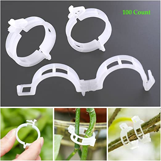 100XGreen Gardening Vines Climbing Plants Cable Ties Lines Plant Brackets Parts