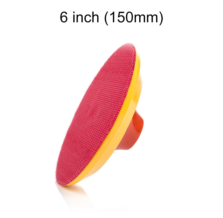 Glass Polish 15,24 cm Velcro para lijadora 150 mm Velcro con Base Nailon Capa 20 mm Esponja de Lija Almohadilla para Pulido Rosca M 14 x 2