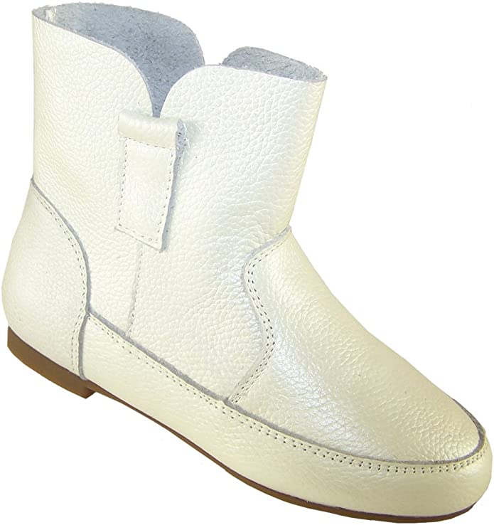 White Leather Fashion Ankle Boots