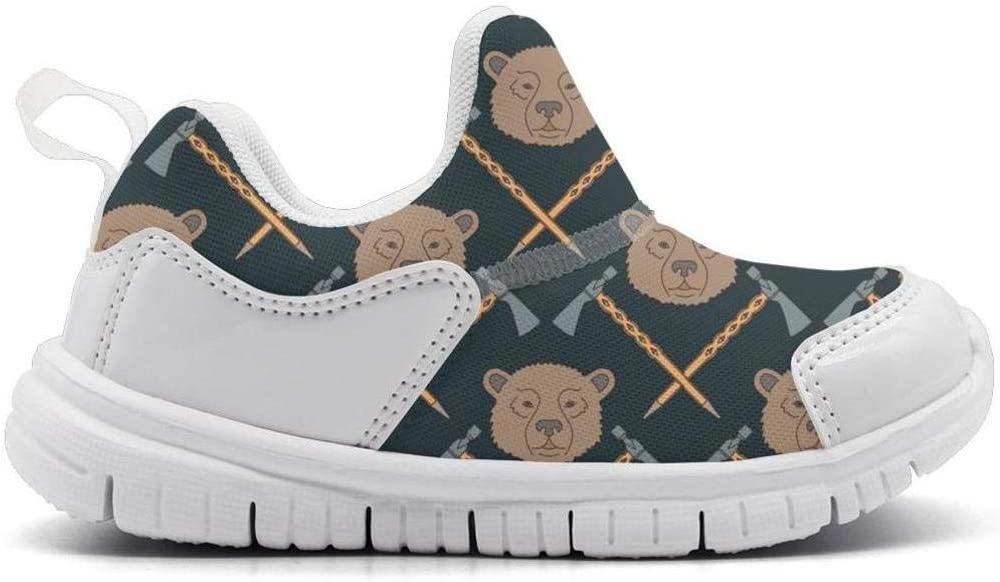 ONEYUAN Children ax Baby Bear Hair Kid Casual Lightweight Sport Shoes Sneakers Walking Athletic Shoes