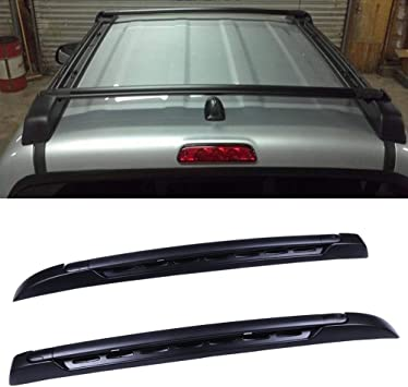 SnailAuto Black Roof Rack Cross Bars Set Fit for 2005-2019 Toyota-Tacoma Double Cab Luggage Carrier