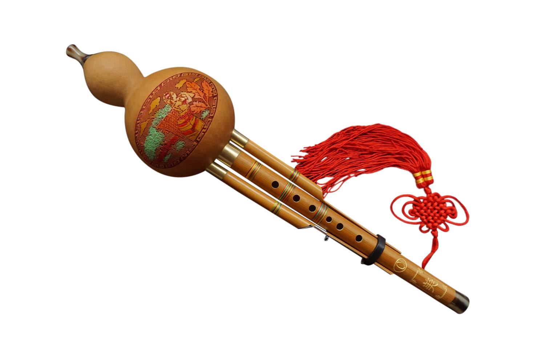 100% Flautas Hulusi Hechos a Mano de Madera de Bambú Chino #102 Interact China HLS102