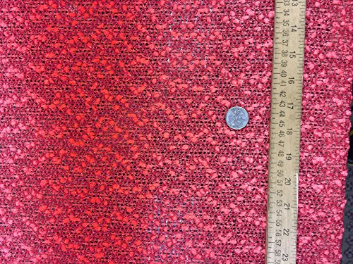 Poly cotton lightweight crocheted Popcorn inspired Coral 50 inches w