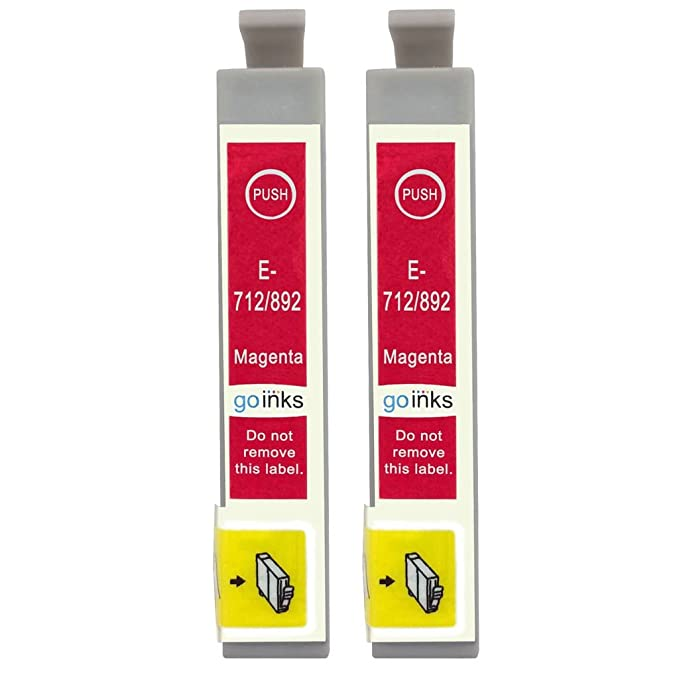 8 opinioni per Go Inks E-713 – Set di 2 cartucce d' inchiostro per stampante Magenta